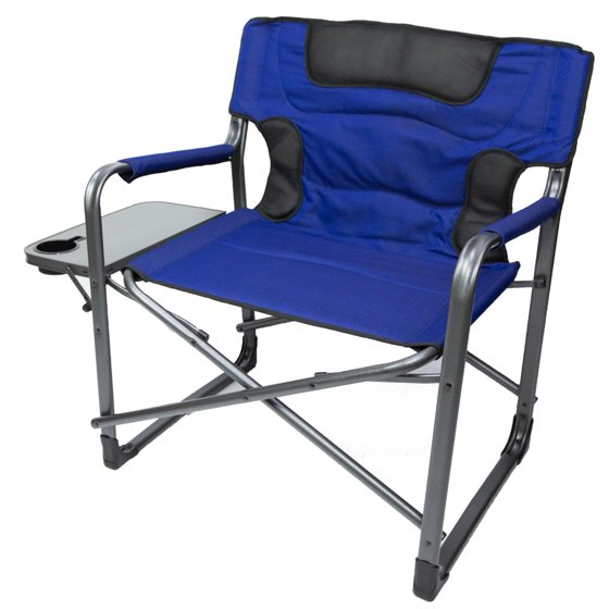 Awesome Ozark Trail Xxl Folding Padded Director Chair With Side Table Red 600 Lb Capacity Machost Co Dining Chair Design Ideas Machostcouk