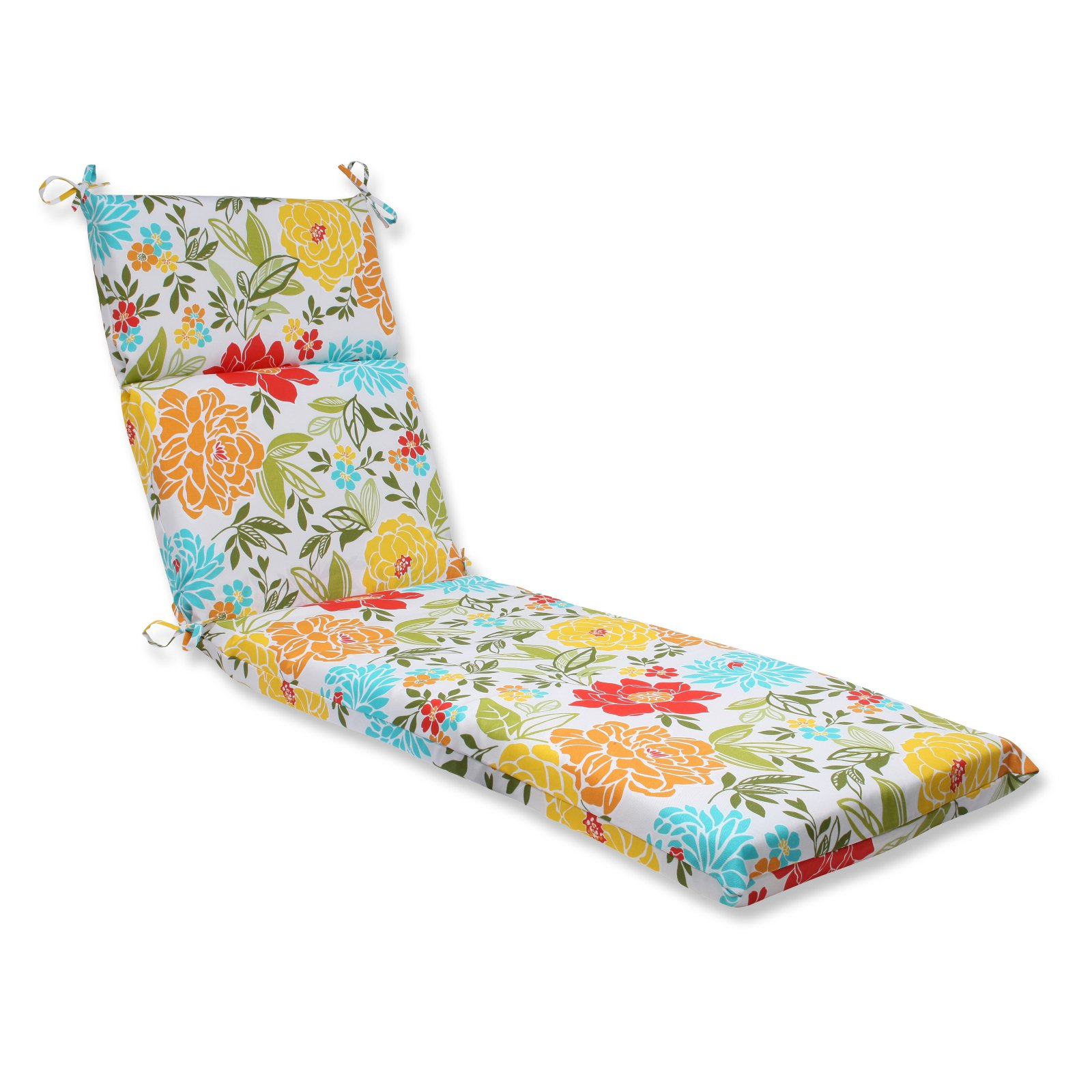 Pillow Perfect Outdoor/ Indoor Spring Bling Multi Chaise Lounge Cushion