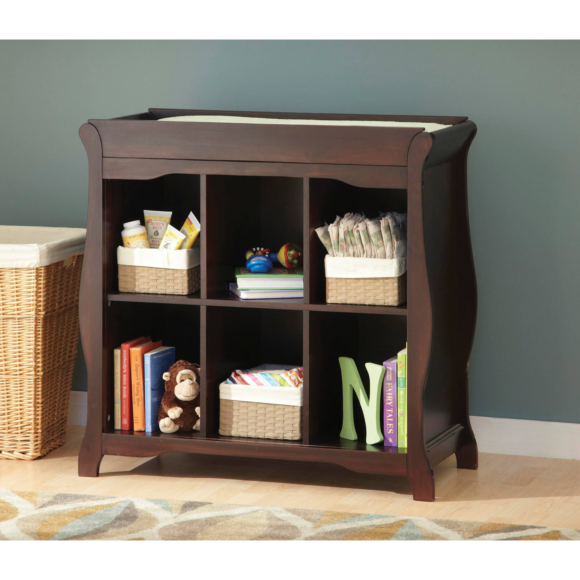 Storkcraft Aspen 6-Cube Organizer and Changing Table, Espresso