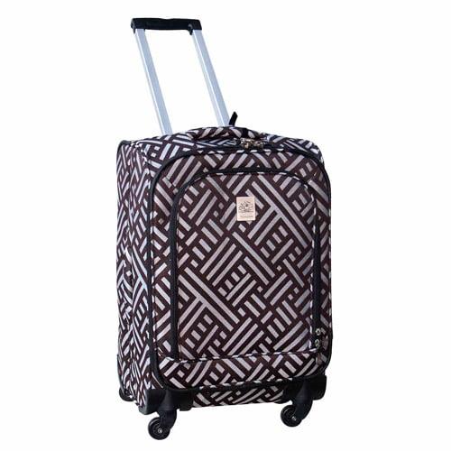 """Jenni Chan Signature 360 Quattro 21"""" Luggage, Brown/Silver"""