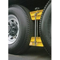 "Camco RV Wheel Stop with Padlock- Stabilizes Your Trailer by Securing Tandem Tires to Prevent Movement While Parked- 26"" to 30"" Tires- Large (44642)"