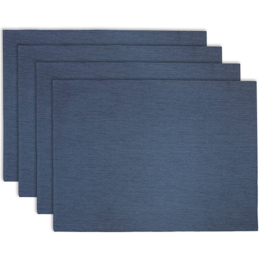 Better Homes & Gardens Blended Weave Indigo 4-Pack Placemats
