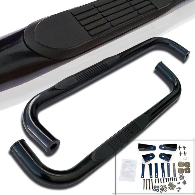 Spec-D Tuning 2002-2008 Dodge Ram Regular Cab Side Step Nerf Bars Running Board Black 02 03 04 05 06 07 08 (Left + Right)