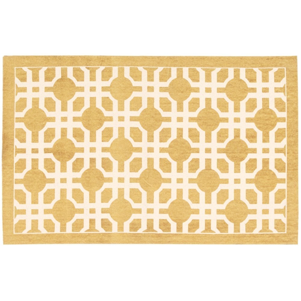Nourison Waverly Art House Groovy Grille Gold Area Rug by