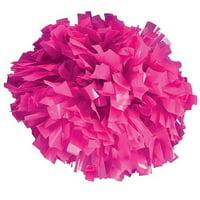 Pizzazz Neon Pink Plastic Cheer Single Pom Pom