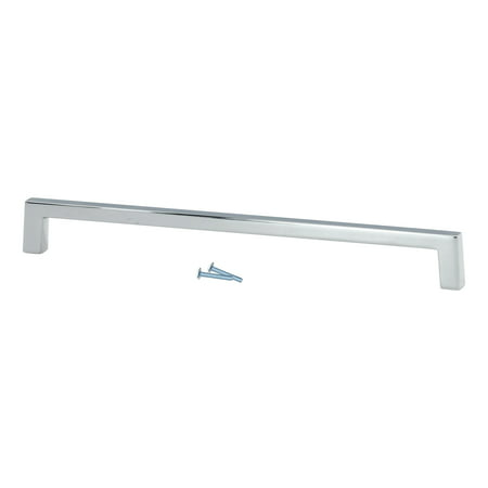 "2 Pack Sleek Square Style 8"" (203mm) Inch Center To Center, Overall Length 8-3/8"", Chrome, Cabinet Hardware Pull / Handle"