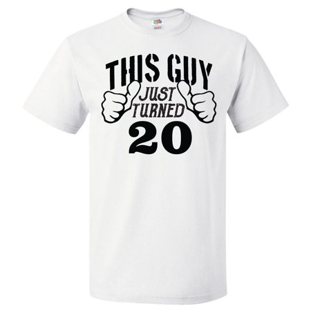 20th Birthday Gift For 20 Year Old This Guy Turned T Shirt
