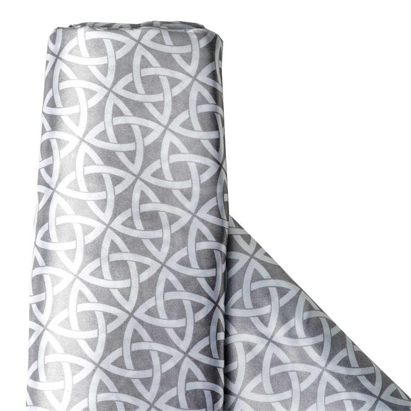"BalsaCircle 54"" x 10 yards White Artful Circles Print Satin Fabric Bolt Put-up - Sewing Crafts Draping Decorations Supplies"