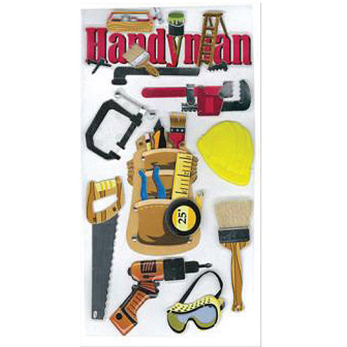 Jolee's Boutique Dimensional Stickers, Handyman