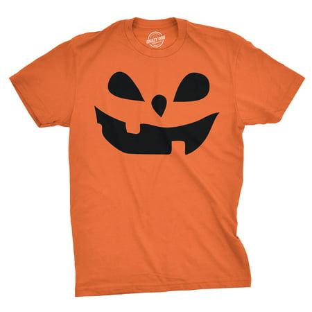 Mens Teardrop Eyes Pumpkin Face Funny Fall Halloween Spooky T - Short Funny Halloween Poems