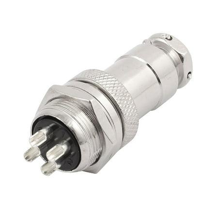 GX20-4 AC 250V 10A 4P 20mm Thread Metal Panel Aviation Connector Adapter - image 4 de 4