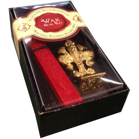 JAM Paper Wax Seal Set, Brass Seal Stamp with Monogram letter V & Wax Stick, Sold Individually - Monogram Embroidery Stamp