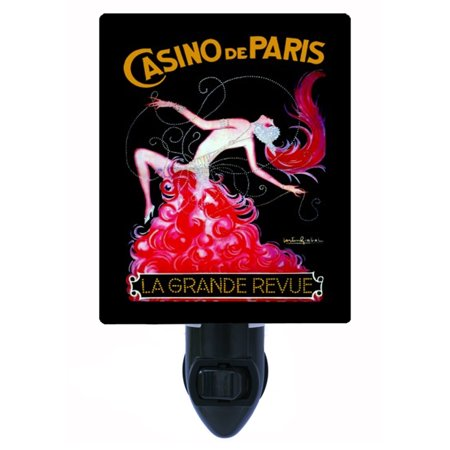 Night Light - Photo Light - Casino de Paris - Vintage - Casino Night Decor