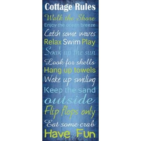 Cottage Rules 2 Poster Print by Lauren - Lauren Home Winter Cottage