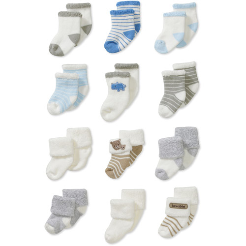 Child of Mine by Carters Newborn Boys' 12pk Terry Sock Set
