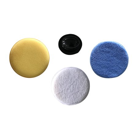 Car Wax Applicator Pads Kit Microfiber Soft Foam Pads Sponge Waxing Pad with Grip Handle