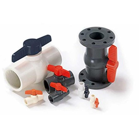 American Valve P201 3 3 in. PVC 2 Piece Ball Valve - International Polymer Solutions Schedule (3 Piece Ball Valve Vs 2 Piece)