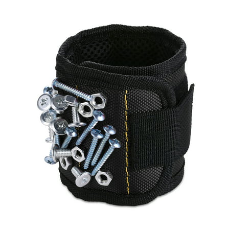 Magnetic Wristband  1 Pack  With Strong Magnets For Holding Screws  Nails  Drill Bits   Best Unique Tool Gift For Diy Handyman  Father Dad  Husband  Boyfriend  Men  Women  Black