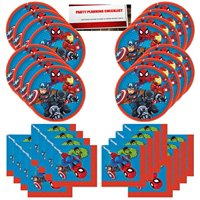Marvel Super Hero Adventures Party Supplies Bundle Pack for 16 Guests (Plus Party Planning Checklist by Mikes Super Store)