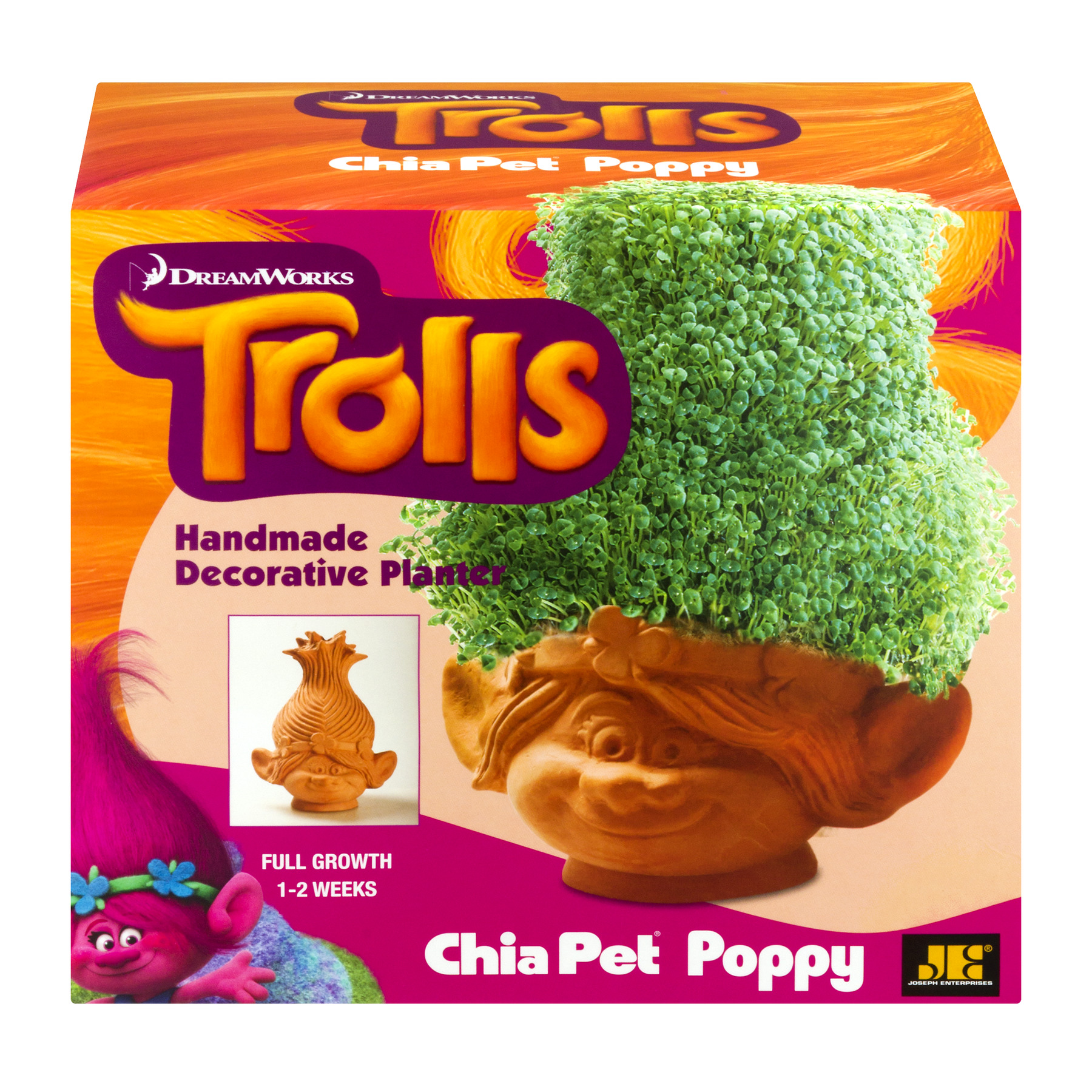 "As Seen on TV - Chia Pet ""Poppy"" Trolls - Handmade Decorative Planter"