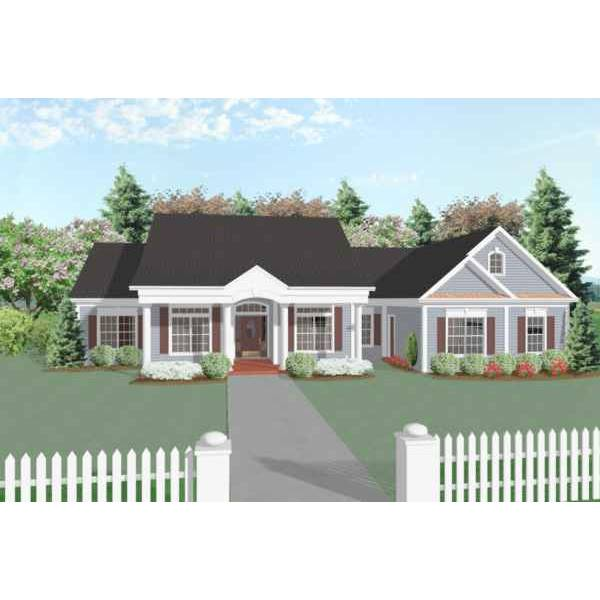 TheHouseDesigners-6250 Southern House Plan with Crawl Space Foundation (5 Printed Sets)
