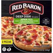 RED BARON Pizza, Deep Dish Singles Supreme, 2 count, 11.50 oz