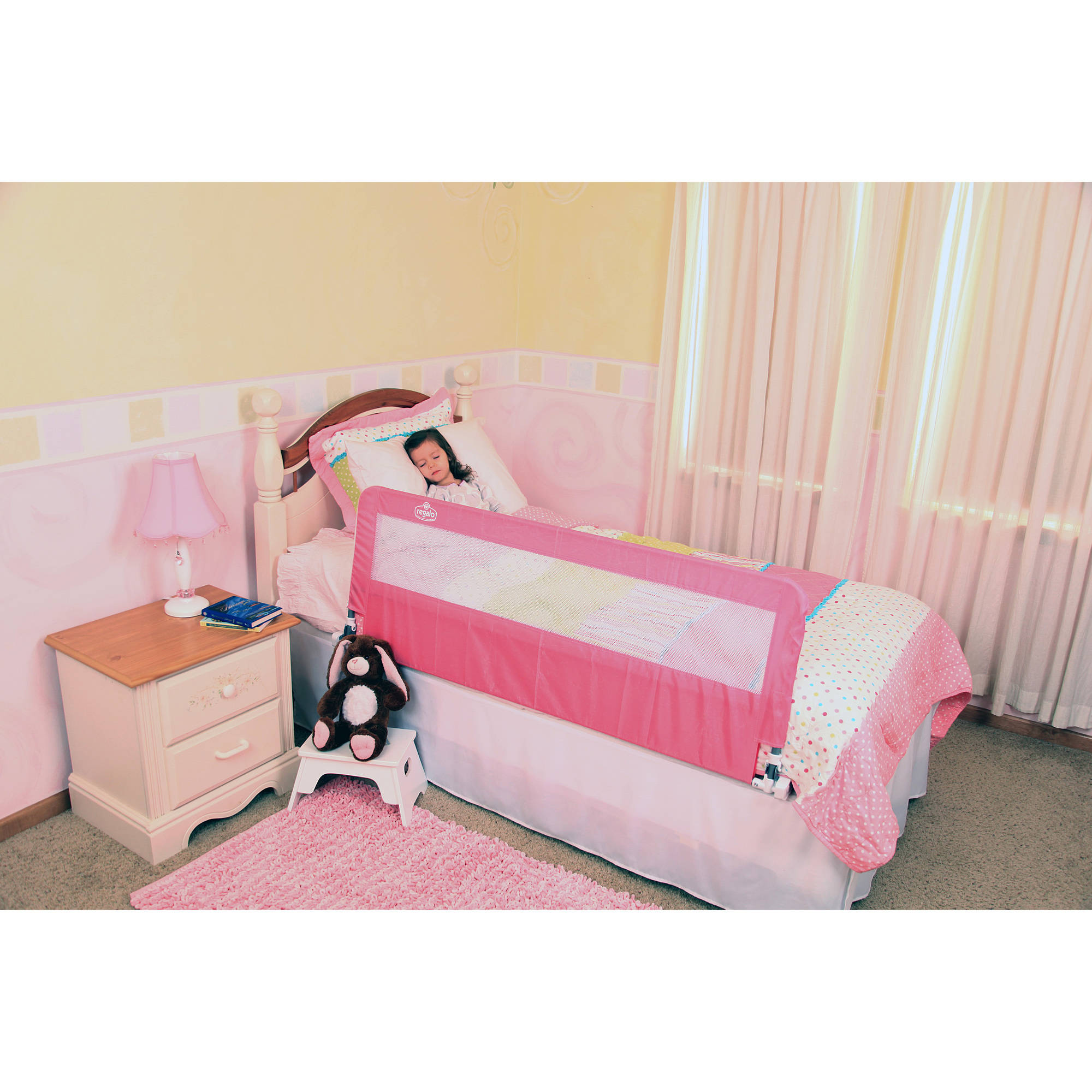 Regalo Hide-Away Extra Long Bed Rail (Pink)