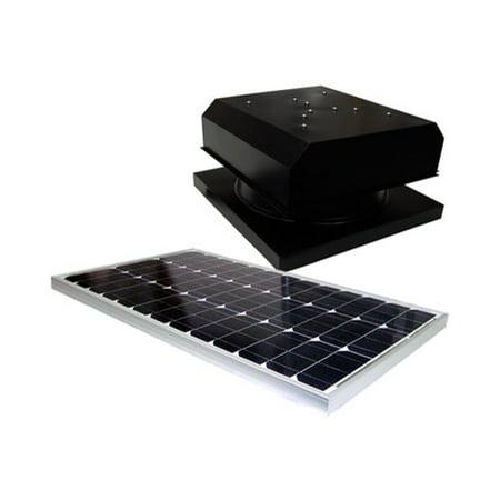 Natural Light Solar Attic Fan Vent Roof Mount, 36 Watt