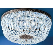 Crystal Baskets 3-Light Ceiling Flush (Chrome - Swarovski Spectra)