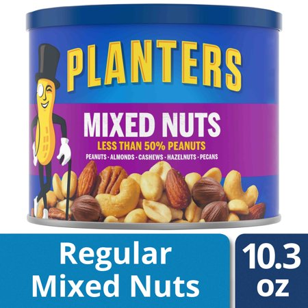 Kohler Nuts - Planters Mixed Nuts, Lightly Salted, 10.3 oz Canister