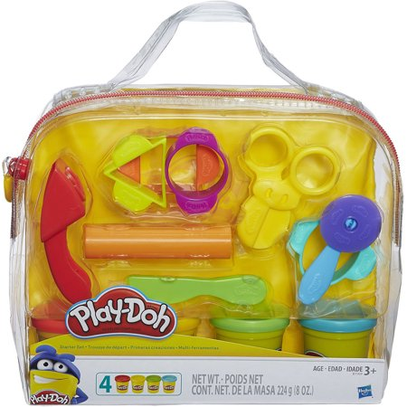 Play Doh Clay (Play-Doh Start Set with 4 Cans of Dough, 9 Tools & Carrying Case )