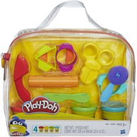 Play-Doh Start Set w/4 Cans of Dough 9 Tools & Carrying Case