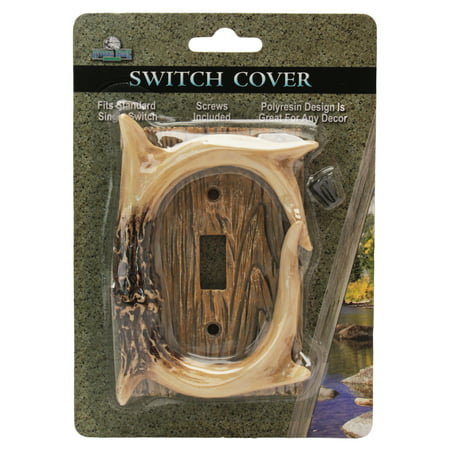 Rivers Edge Products Single Switch Cover Deer Antler