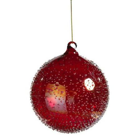 The Holiday Aisle Beaded Christmas Ball Ornament Set Of 4