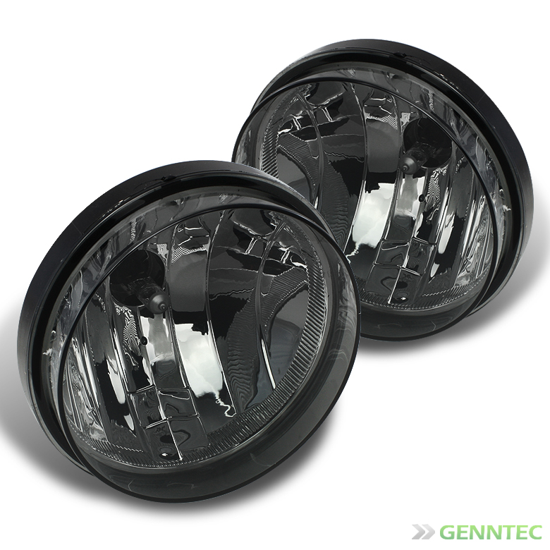 2007-2013 Sierra Smoked Driving Fog Lights Rainy Lamps Left+Right w/Light Bulbs 2008 2009 2010 2011 2012 Pair Left+Right