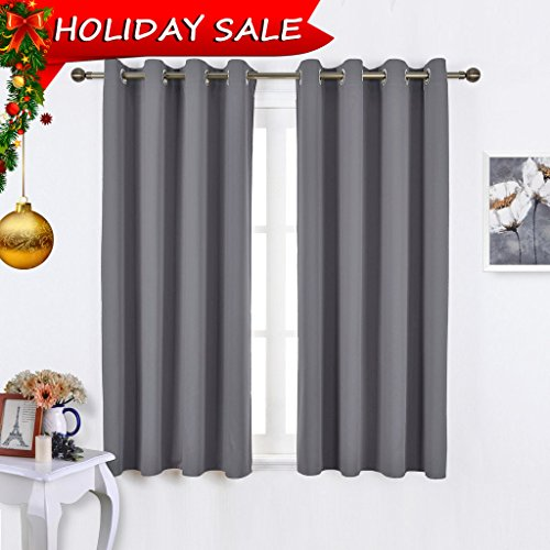 Soft Polyester Blackout Curtains Panels For Bedroom 2