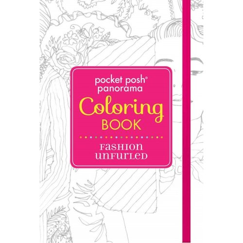 Pocket Posh Panorama Adult Coloring Book - Fashion Unfurled: An Adult Coloring Book