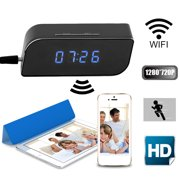 Portable Wireless Digital Mini Spy Camera Hidden Clock With Recorder And Motion Activated App Supported For