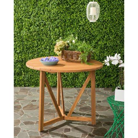 Contemporary Outdoor Table (Safavieh Cloverdale Outdoor Contemporary Round Table)