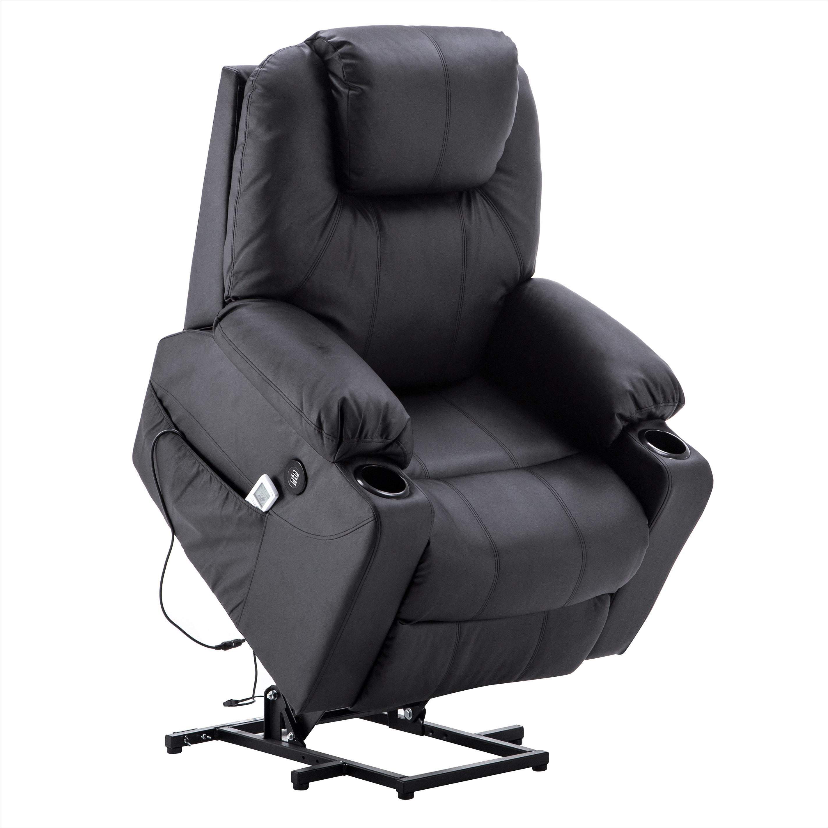 electric power lift massage sofa recliner heated chair lounge w rh walmart com
