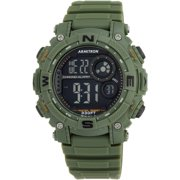 Men's Round Sport Watch, Dark Green