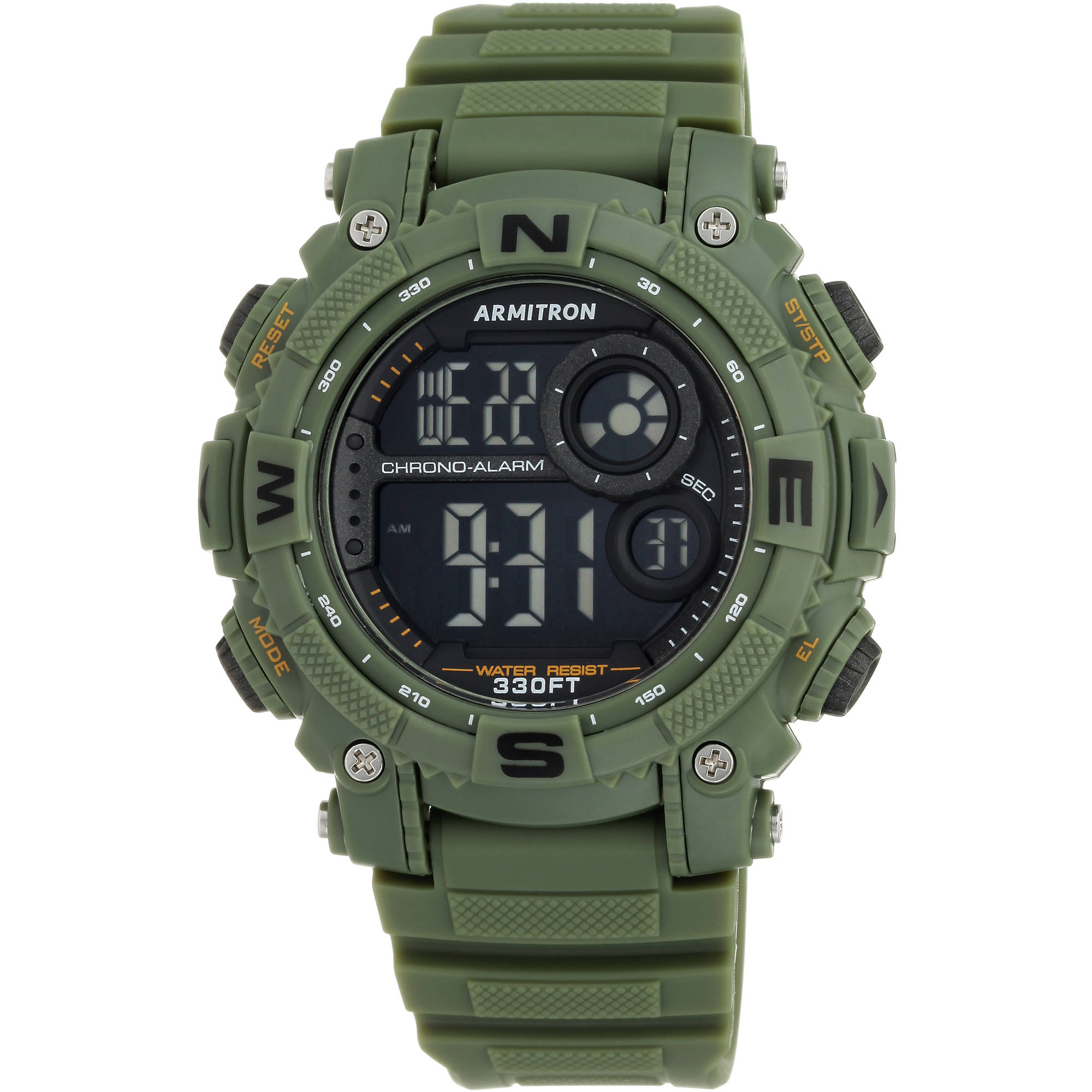 Armitron Men's Round Sport Watch, Dark Green