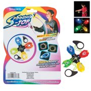 Light Up String Pull Spinning Top - Party Favors - 6 Pieces
