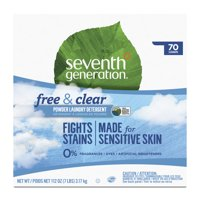 Seventh Generation Laundry Detergent Powder, Free & Clear, 70 Loads, 112 oz