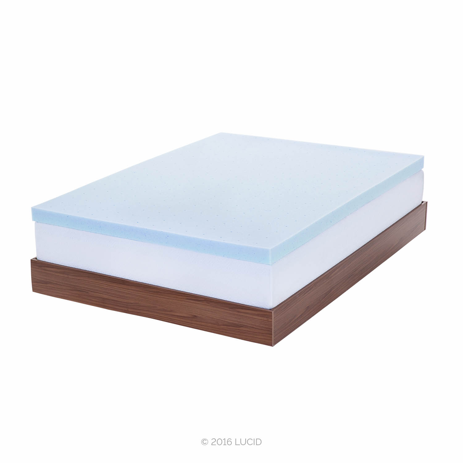 Lucid 3 Ventilated Gel Memory Foam Mattress Topper Full Xl