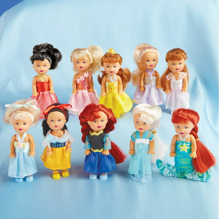 Little Princess Dolls and includes Elsa, Anna, Snow White, Little Mermaid, and more- Set of 10, Each 4 in. Tall - Gift Ideas for Girls ()