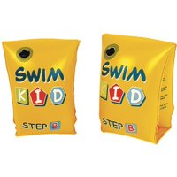 """Set of 2 Yellow Swim Kid """"Step B"""" Inflatable Swimming Pool Arm Floats for Kids 3-6 Years"""