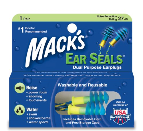 2 Pack - Macks Ear Seals Dual Purpose Ear Plugs - 1 Pair Each