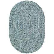 Sea Pottery Oval Braided Area Rug