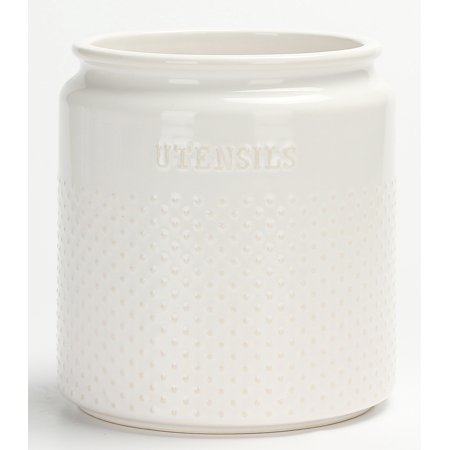 Better Homes & Gardens Ceramic Dotted Hobnail Utensil Holder ()